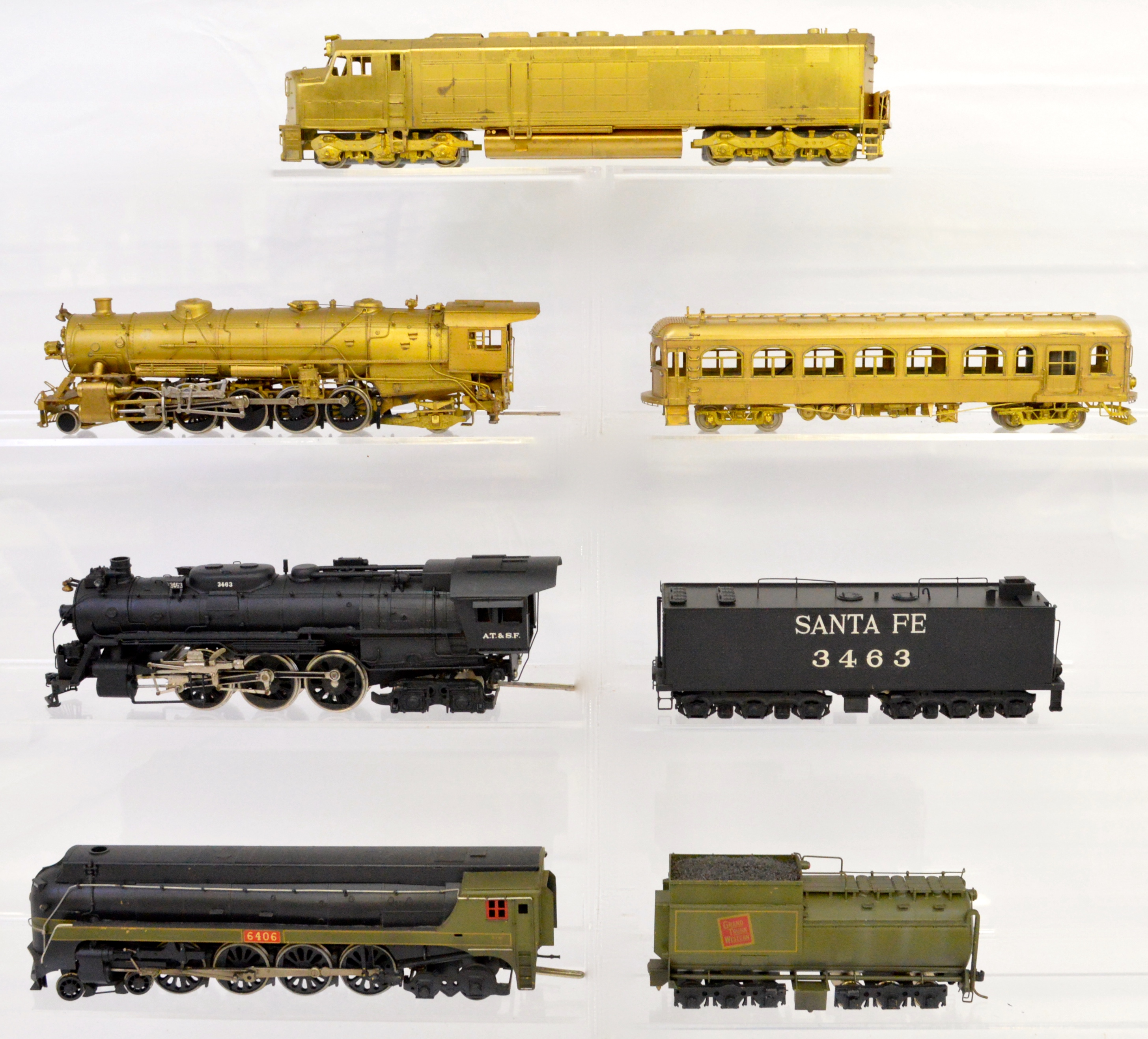 Online Only HO Scale Brass Locomotives, Trolleys & Rolling Stock